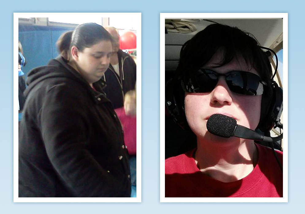 After having RNY Gastric Bypass, Krystle decided to pursue a life-long dream to become a pilot. You'll be inspired as she achieves her NSV of flying!