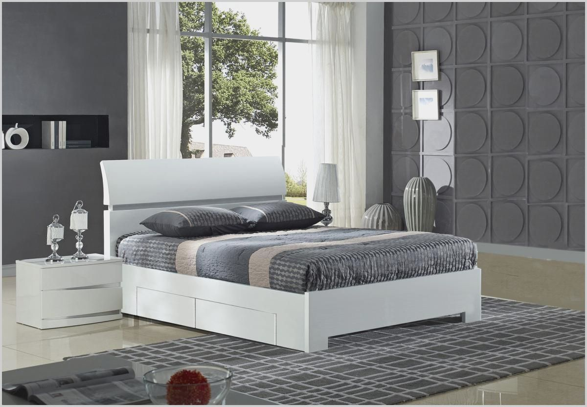 White and Grey Gloss Bedroom Furniture White gloss
