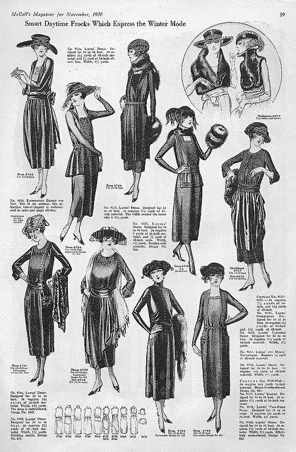 Loving the top left! - November 1920 Fashion by christine592, via Flickr