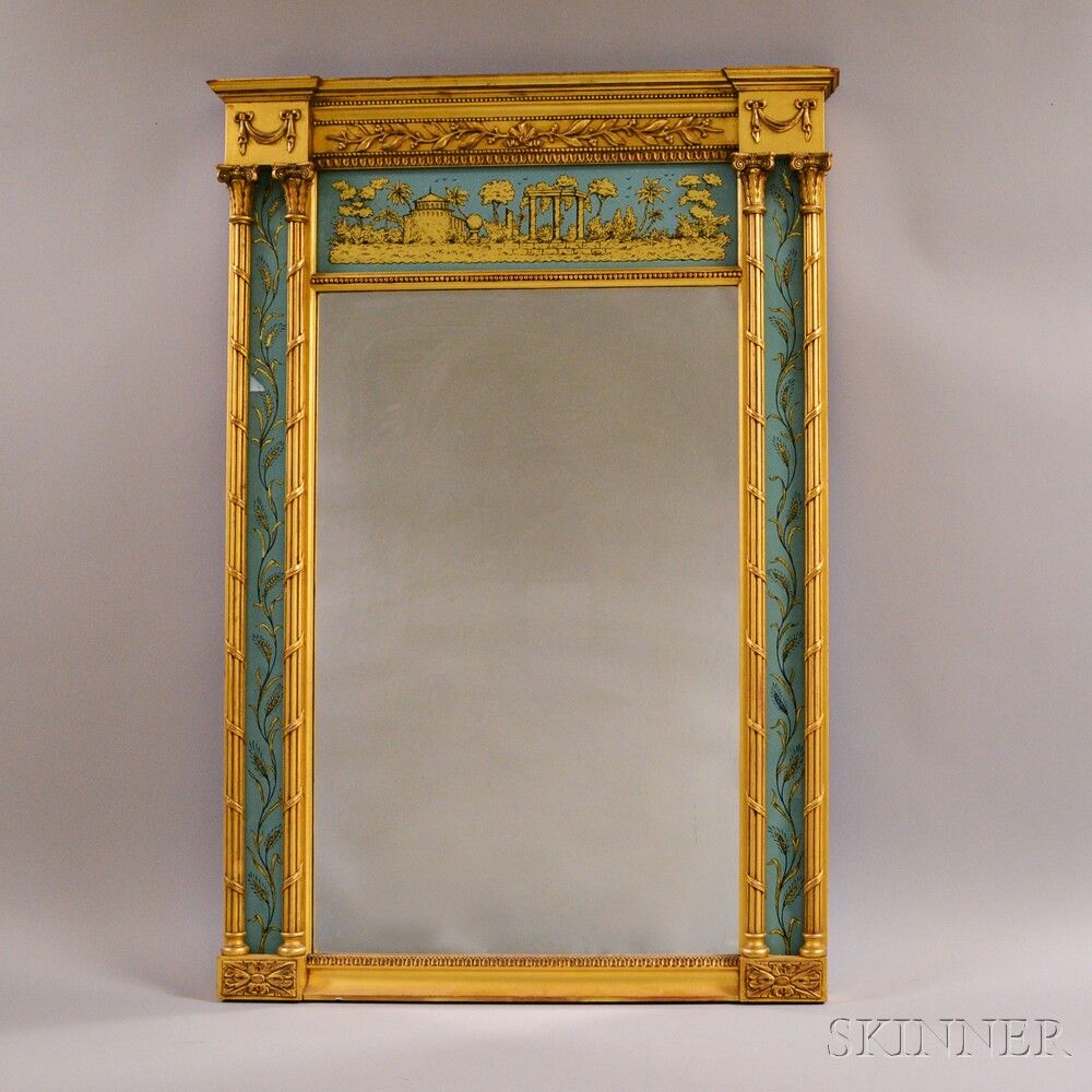 Federal-style Gilt Tabernacle Mirror | Sale Number 2906T, Lot Number 2086 | Skinner Auctioneers