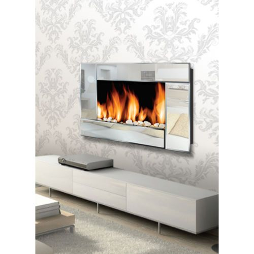 Warm House Mirror Finish Wall Mount Electric Fireplace Wall Mount Electric Fireplace Electric Fireplace Fireplace