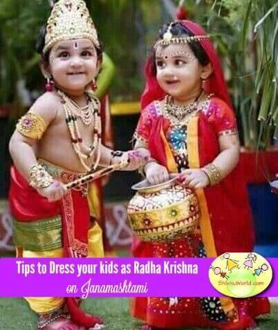 Tips To Dress Your Babies Kids In Krishna Dress Radha