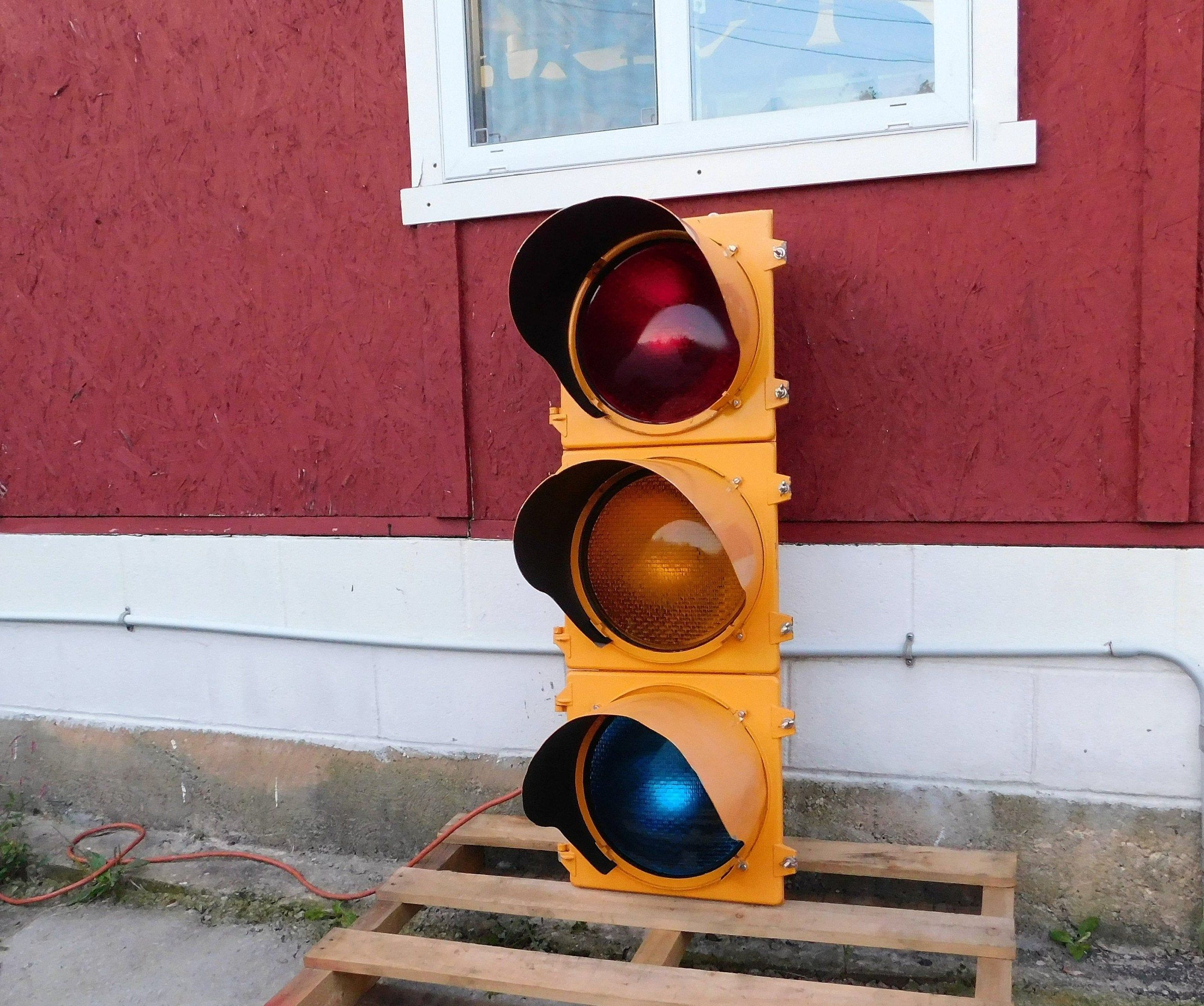 Large Traffic Signal Light Real Traffic Light Indicators Control Corp Industrial Auto Decor Traffic Light Traffic Signal Light Covers
