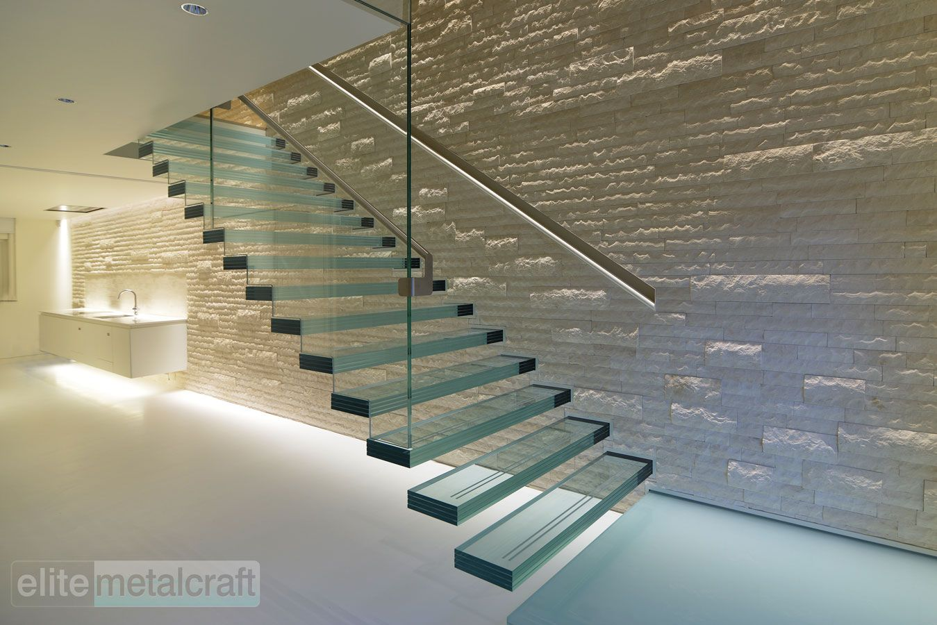 glass stairs - Google Search