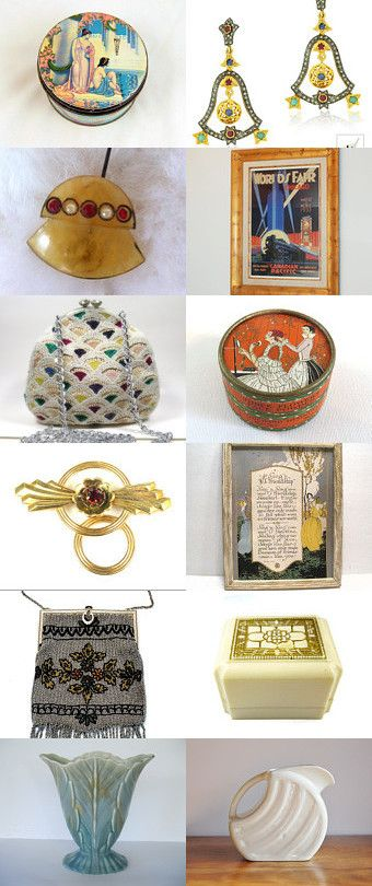 Dreams of Art Deco by vintagelinens on Etsy--Pinned with TreasuryPin.com