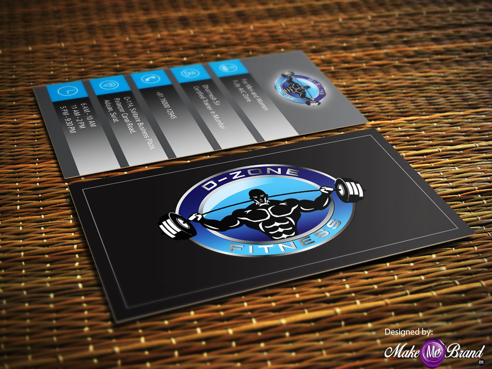 Business Card design of D-Zone Fitness #businesscard #gym #fitness ...
