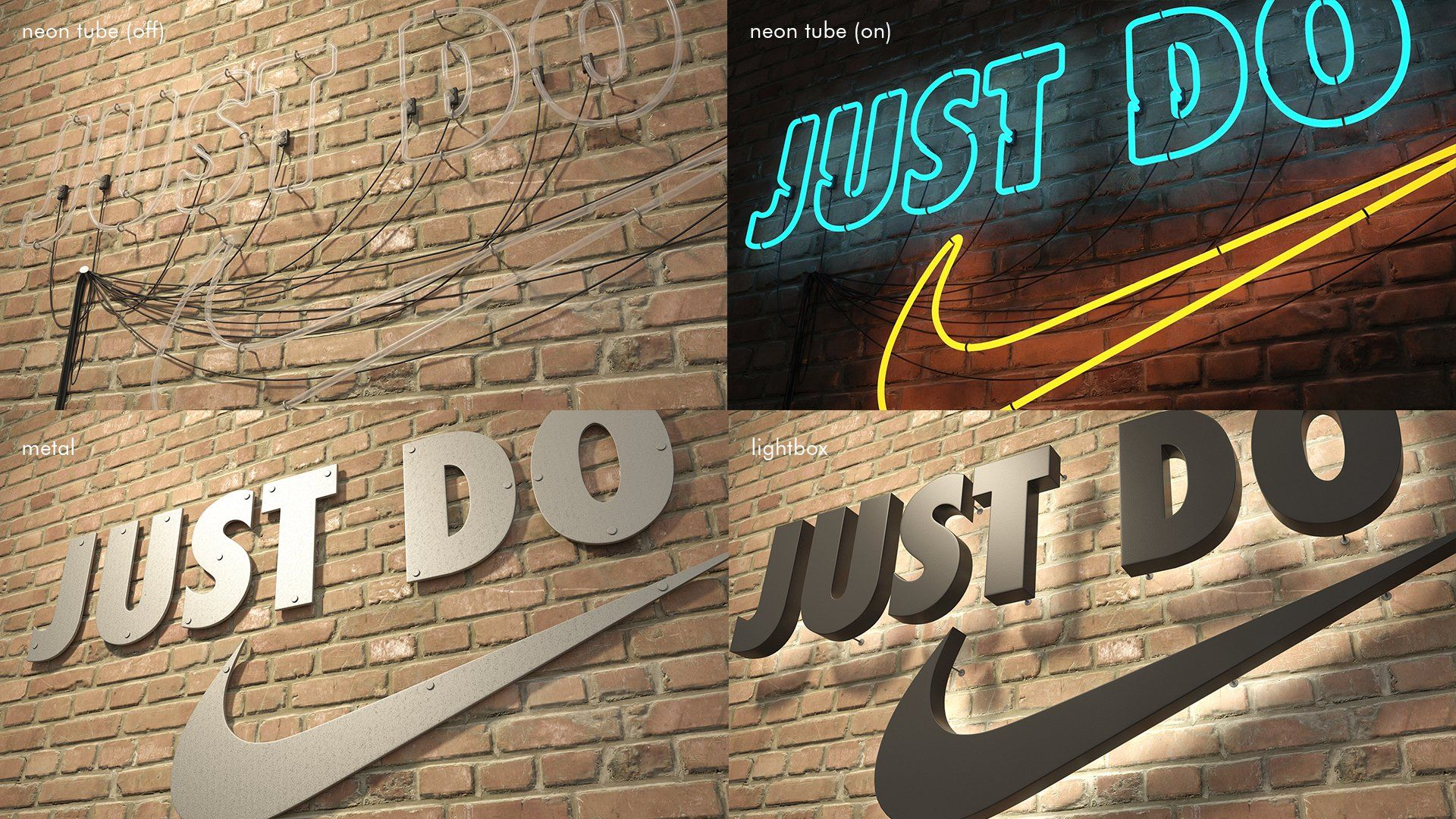 logo sign Nike Just do it 3d Logo sign, Just do it