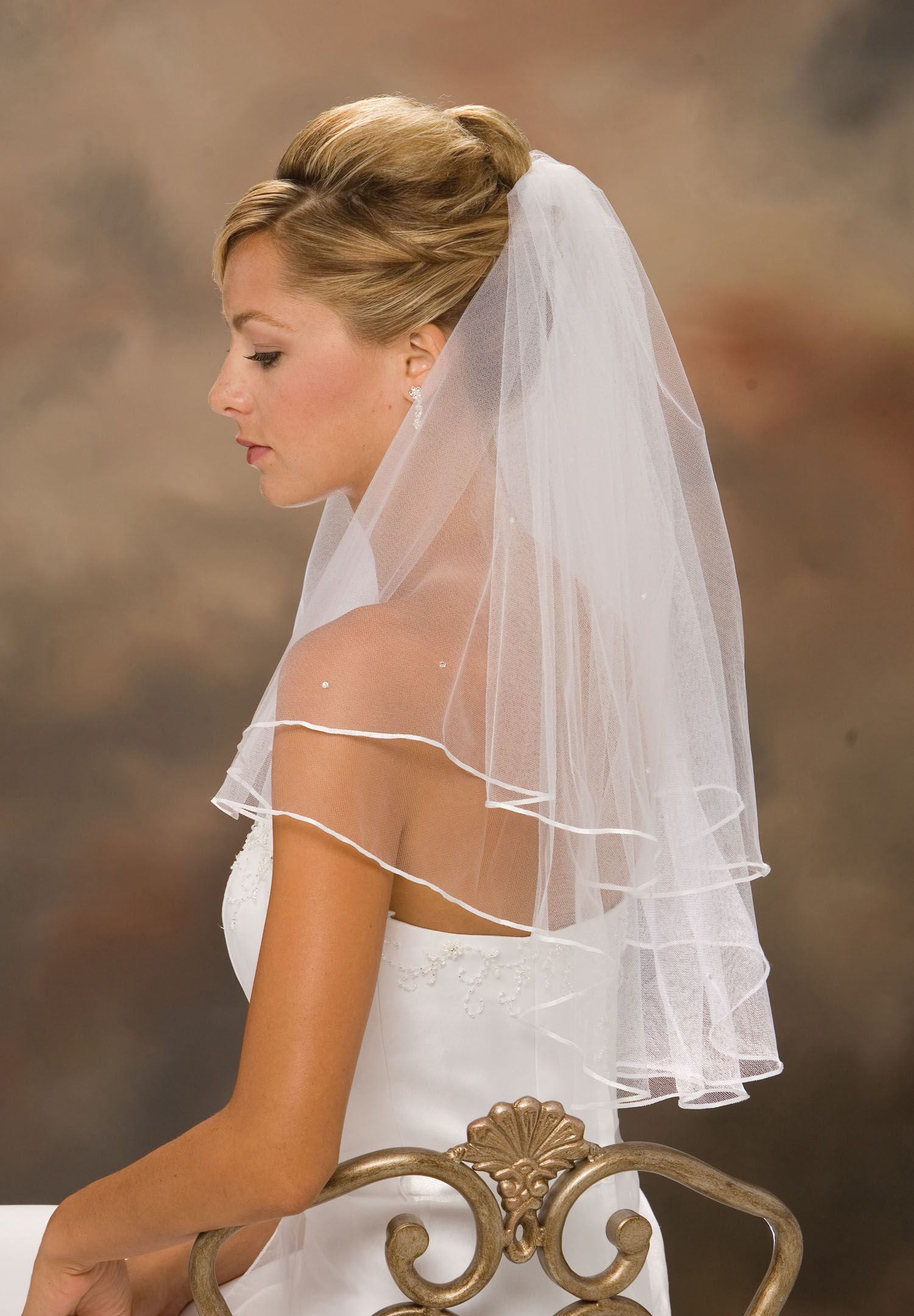 New Ivory Or White Wedding Bridal Elbow Satin Edge Veil With Comb In Clothing Shoes Accessories