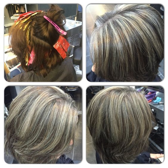 Salt And Pepper Highlights Natural Looking Grey