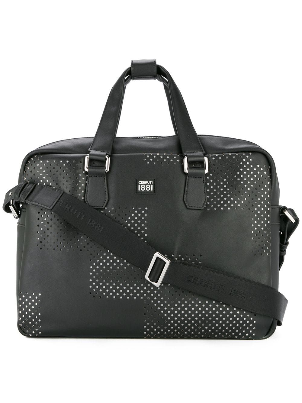 24c6ae51f04 Cerruti 1881 punch hole detailed briefcase - Black in 2019 ...