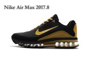new york b35a5 9713d Mens Nike Air Max 2017. 8 KPU Sneakers Black Yellow