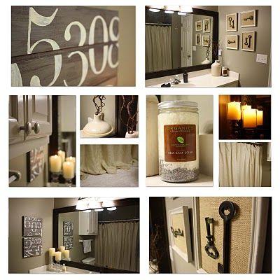bathroom decor.blog gives how to diy   cheap interior