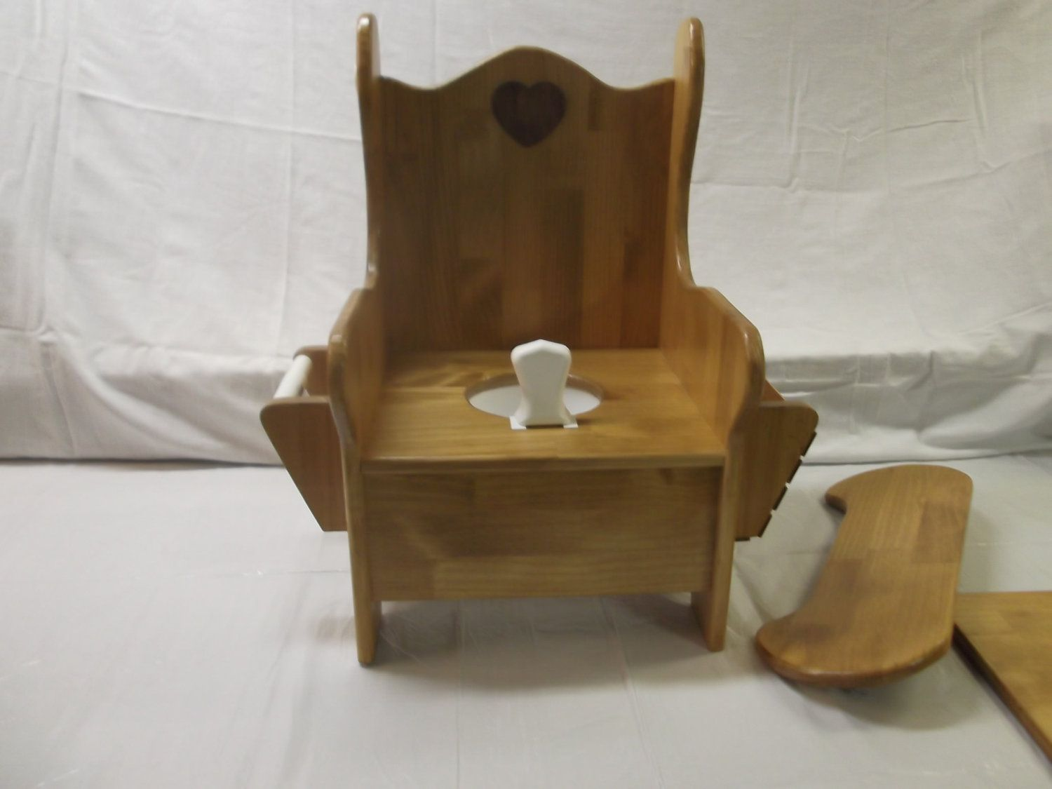 wooden potty training chair wheel images large w tray tp holder and book rack home