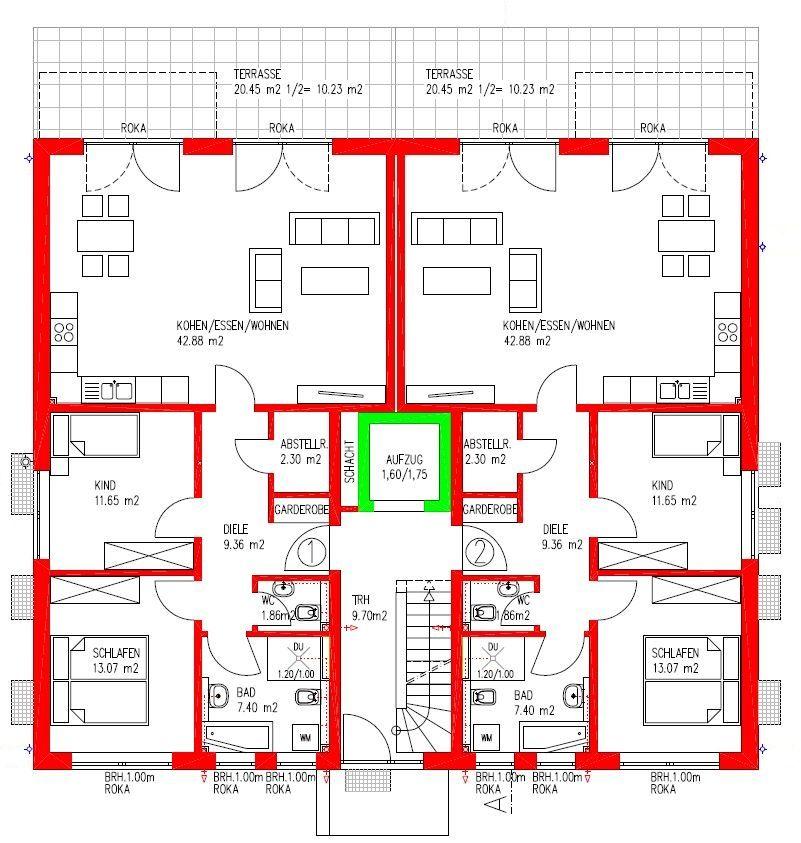 MFH Erdgeschoss Grundriss mehrfamilienhaus