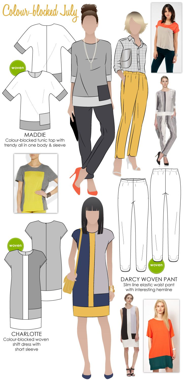 Color blocked clothing
