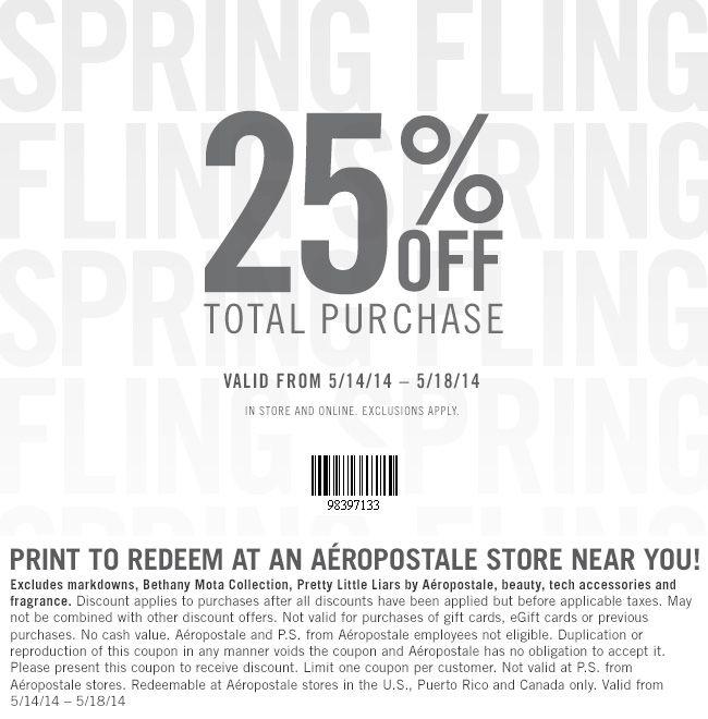 aeropostale coupon codes 2019