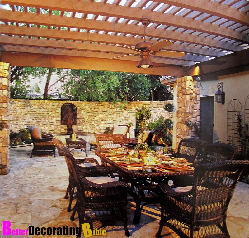 Patio decorating ideas outdoor patio decorating ideas for Back patio porch designs