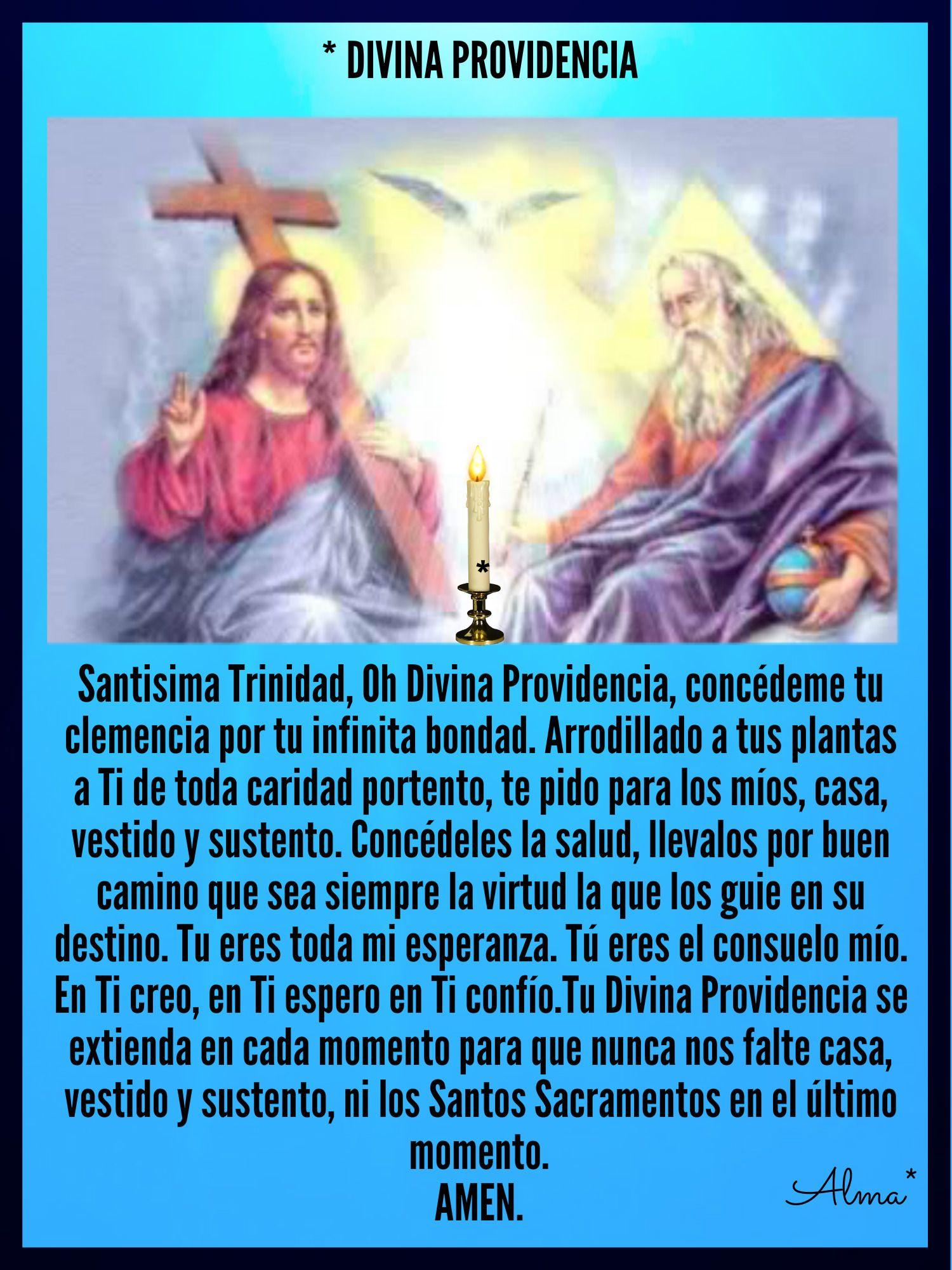 Divina Providencia Santisima Trinidad Oh Divina