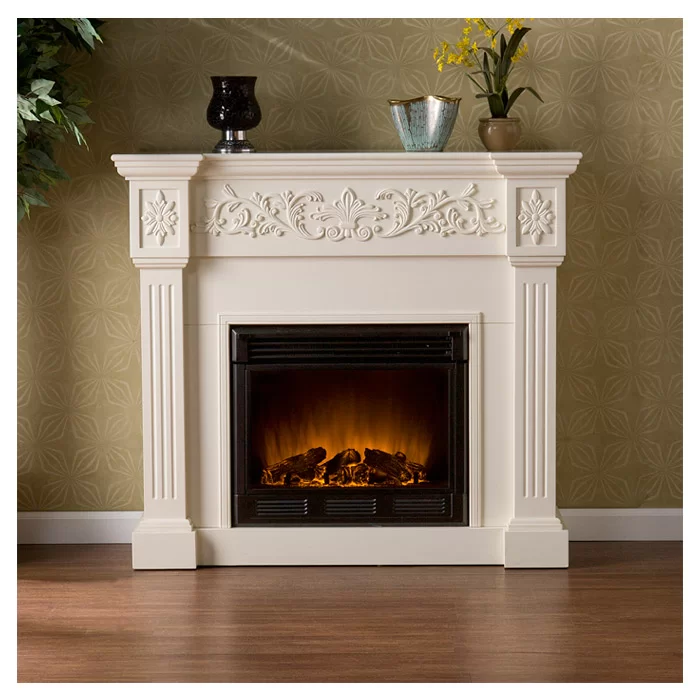 Kitsco Boyer Electric Fireplace Reviews Wayfair White