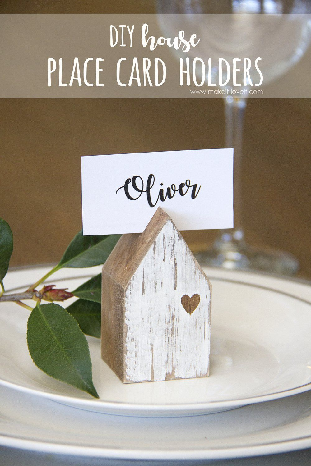 Diy House Place Card Holders Place Card Holders Home Diy Diy Wood Projects