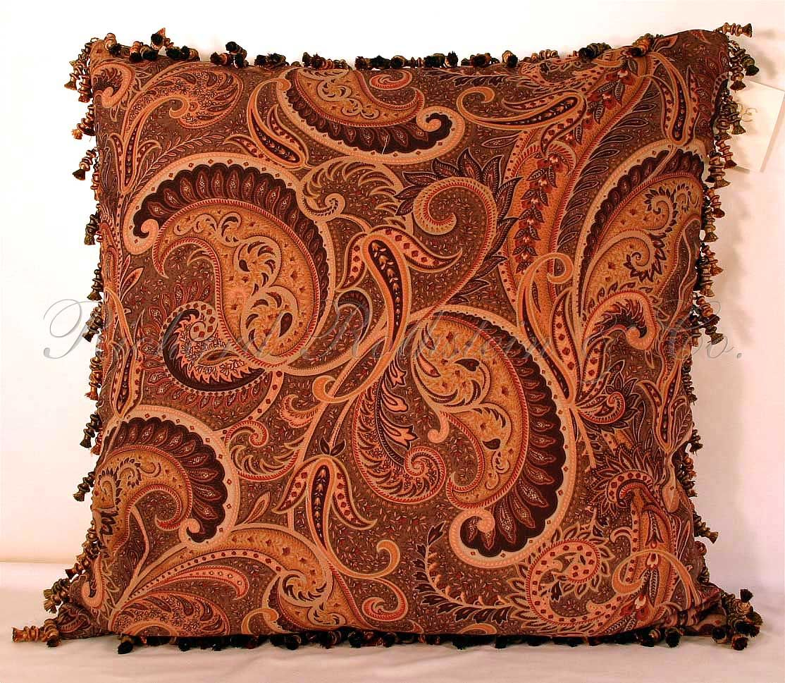 Paisley paisley decorative pillow related items teal paprika
