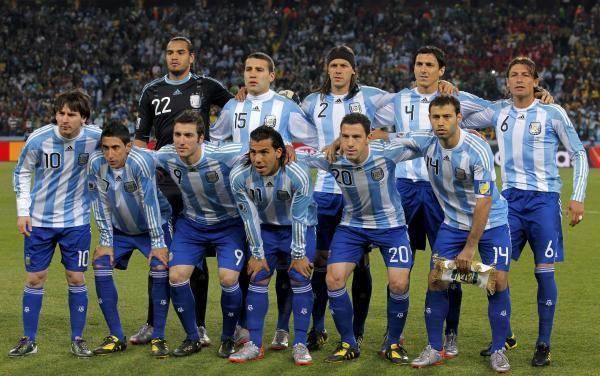 Este es los jugadores jugar en equipo para fútbol para Argentina. Aquel equipo miran bien Buenos!