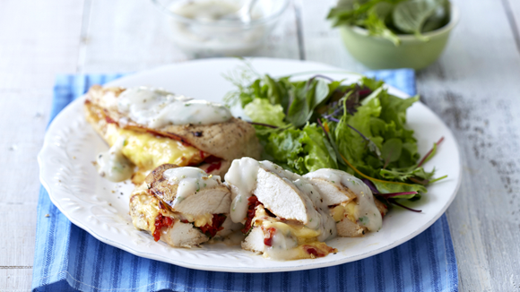 Photo of BAKED CHICKEN BREASTS STUFFED WITH BRIE AND BASIL – This is one of those chicken…