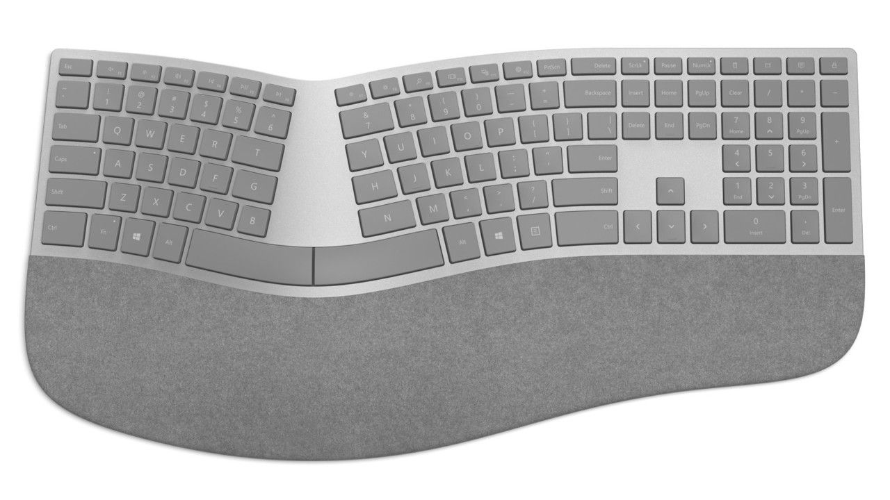 The Curvaceous Microsoft Surface Ergonomic Keyboard Microsoft Surface Keyboard Surface Studio