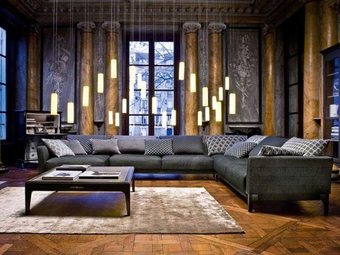 Le canapé composable est un élément incontournable du salon contemporain. Il est beau, pratique, offrant de nombreuses possibilités d'aménagement du séjour.