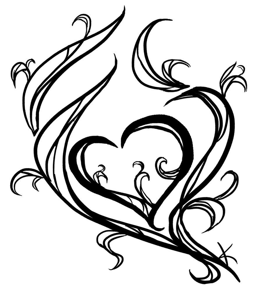 Tattoo 39 s for tattoo drawings of hearts heart tattoo for Cool small designs to draw