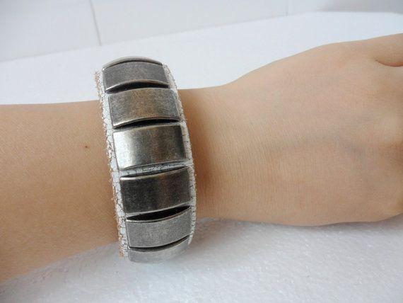 Bangle leather bracelet buckle bracelet men by jewelrybraceletcuff, $9.00
