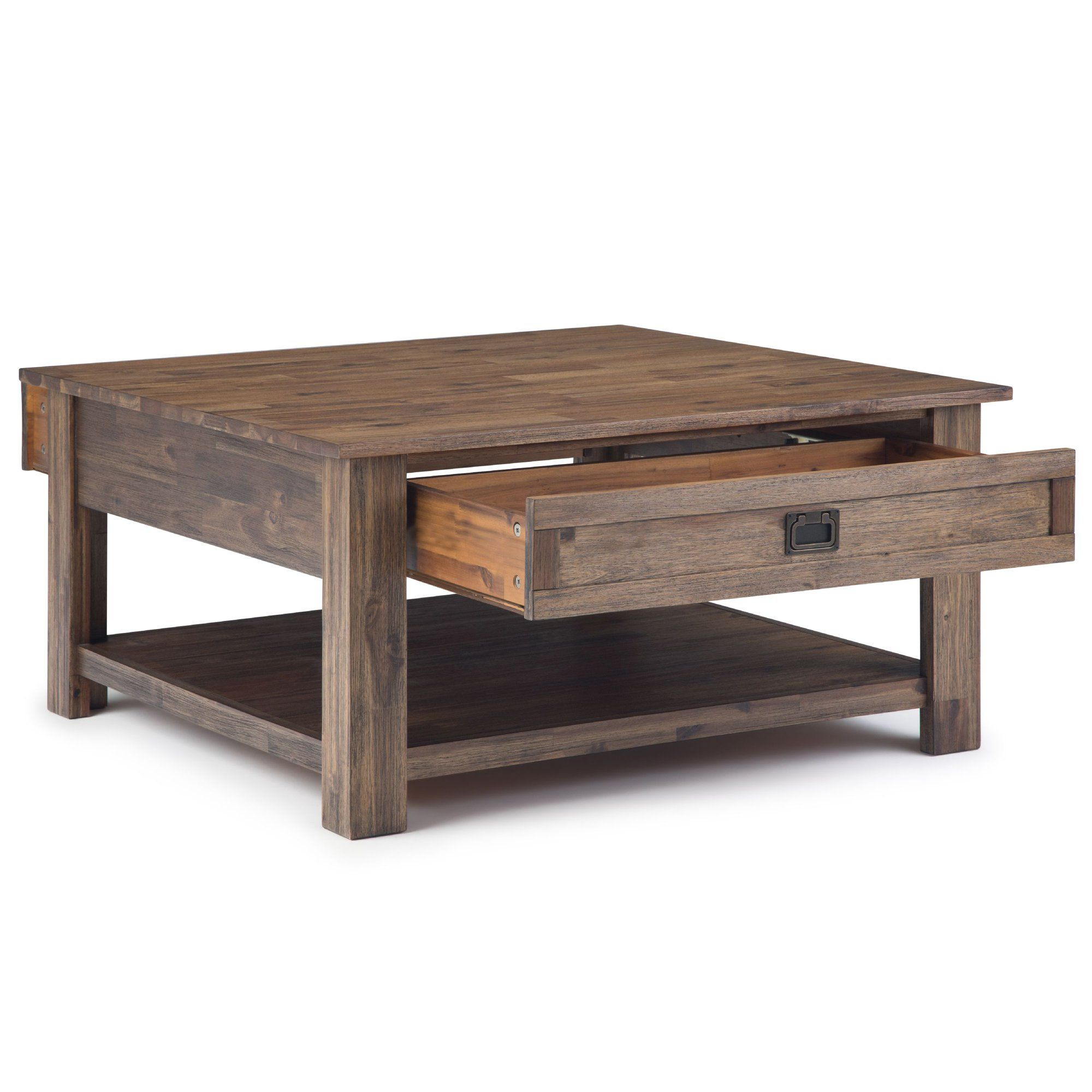 Brooklyn Max Sullivan Solid Acacia Wood 38 Inch Wide Square Rustic Contemporary Coffee Table Coffee Table Square Contemporary Coffee Table Coffee Table Wood [ 2000 x 2000 Pixel ]