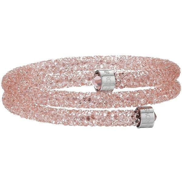 Swarovski Crystaldust Double Bangle Bracelet (Light Pink) Bracelet ...