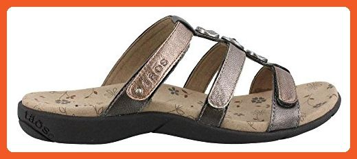 a61fa9f00f7 Taos Women s Prize 2 3-strap Casual Slide Sandal Metallic 8 M US - Sandals  for women ( Amazon Partner-Link)