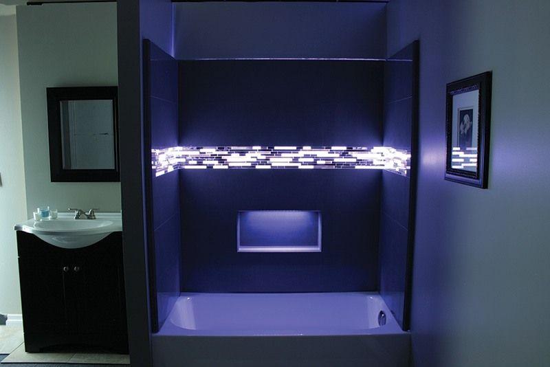 Image Result For Color Led Light Strips In Bathroom Shower