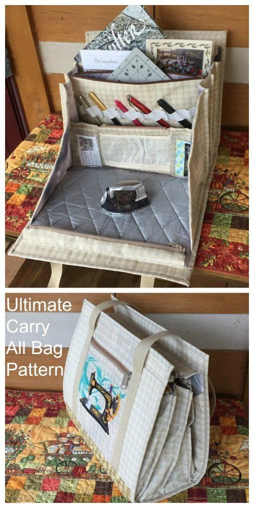 Ultimate Carry All Bag sewing pattern - #Bag #carry #Pattern #Sewing #Ultimate #wallet #bagsewingpatterns