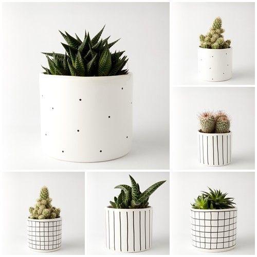 accessories - flowerpots and vases-ZESTAW 2 doniczki duże  2 doniczki małe
