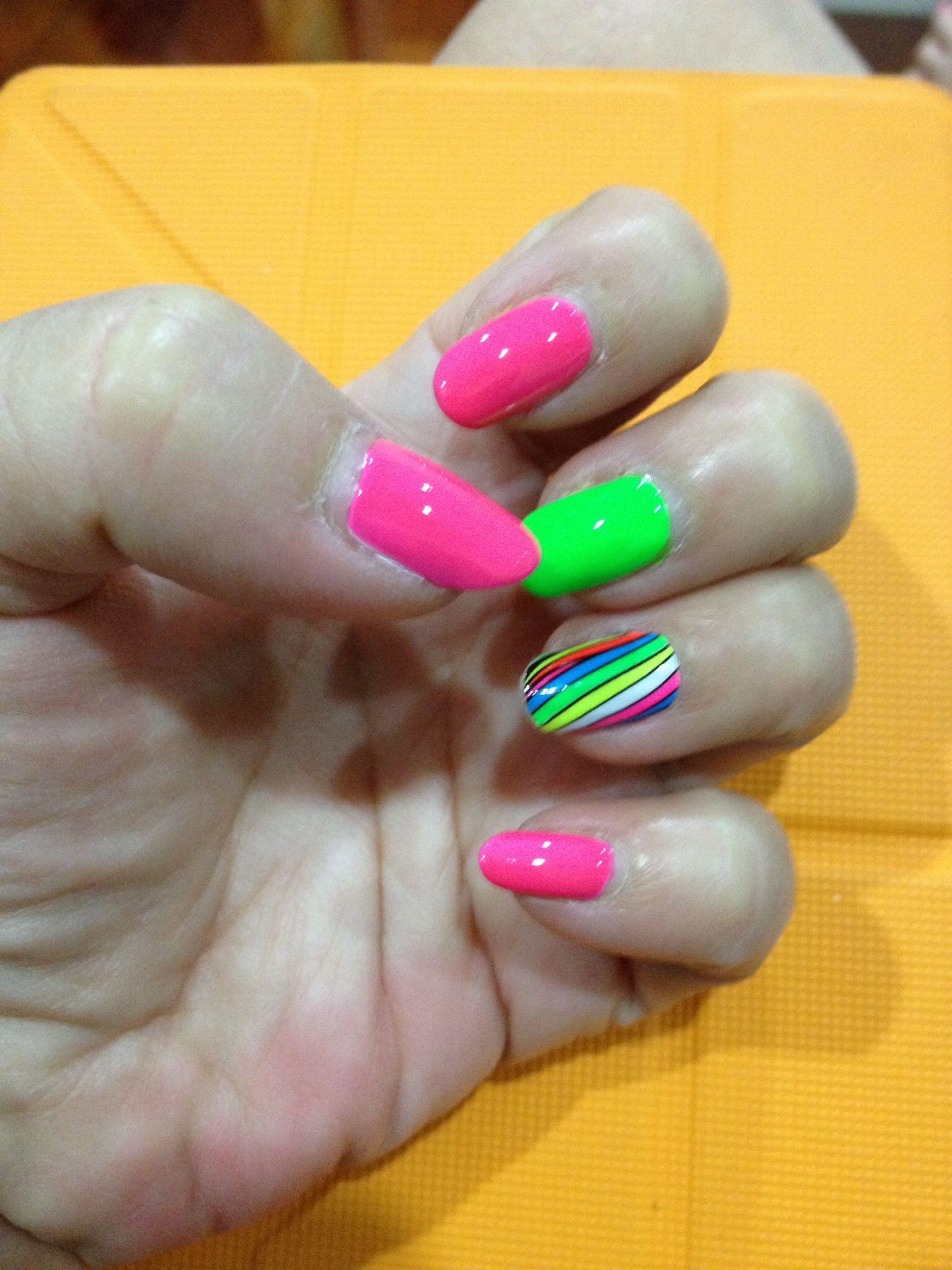 Neon nailart diy nail art creations at nailroom pinterest