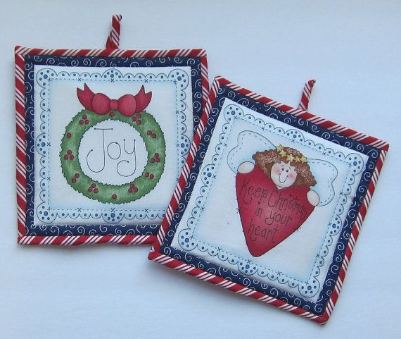 Joy Wreath and Heart Keep Christmas in Your by QuiltingGranny