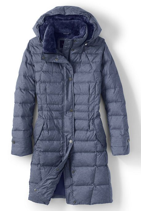 40º to -10º F Women's Fleece Lined Down Coat from Lands' End ...