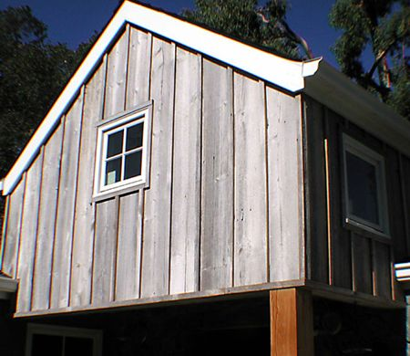 Stained Pine Siding