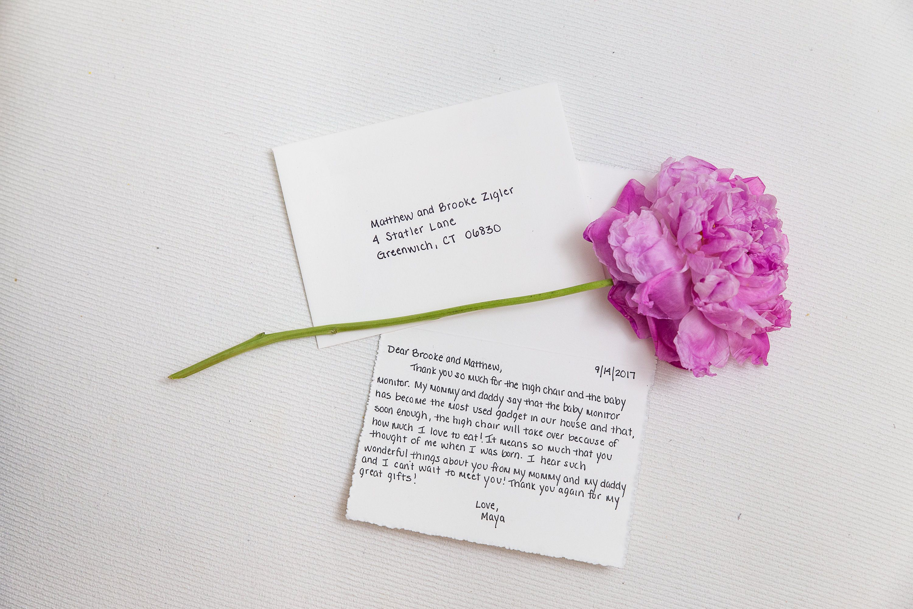 Personalized Handwritten Baby Gift Thank You Notes by