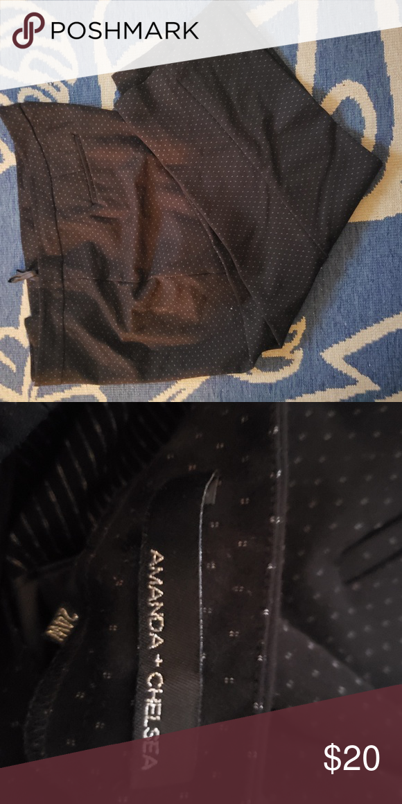 Amanda & Chelsea Black and White Slacks Black and small white dots pattern slacks with front button and zipper. Amanda & Chelsea Pants Trousers #whiteslacks