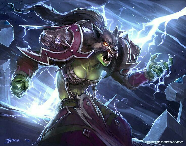 Orc Shaman Fantasy Illustration Wow Shaman Female Orc