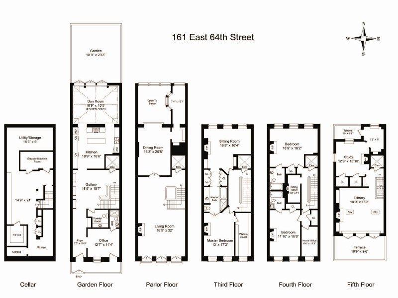Townhouse Floor Plan With Elevator Floor Plans