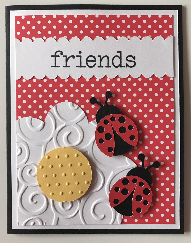 Hello Friend  Friendship Greeting Cards  A2  Handmade Greeting Card