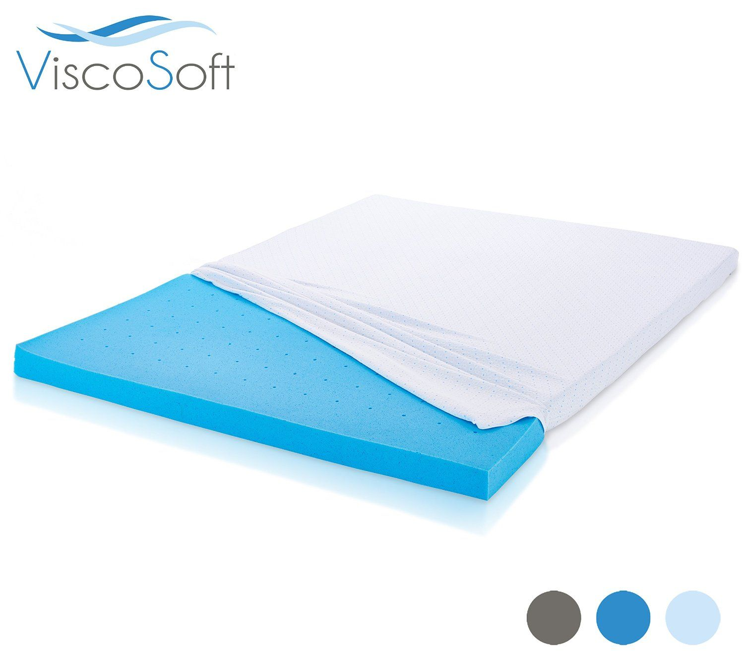 Amazon.com: ViscoSoft Cooling Gel-Infused Memory Foam Mattress Topper 3-INCH