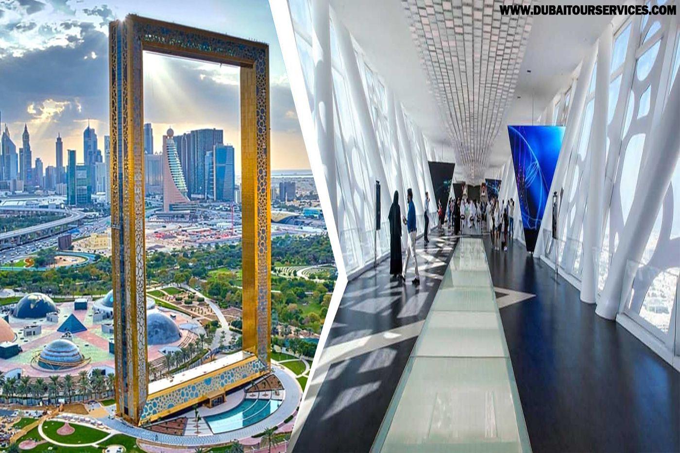The Dubai Frame Ticket Booking Explore Dubai Uae Sightseeing Tours Dubai Tour Tours Dubai