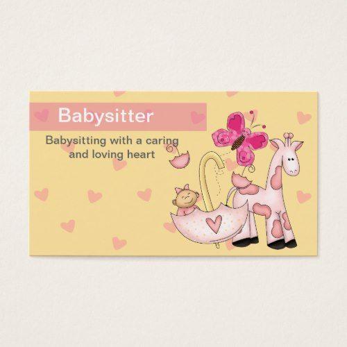 Babysitting Business Cards Zazzle Com Babysitting Business Card Design Business Cards