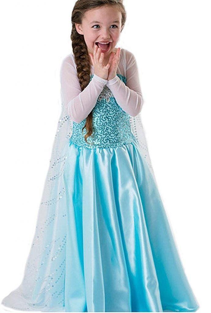 robe princesse reine des neiges frozen costume enfant fille princesse elsa dguisement haute